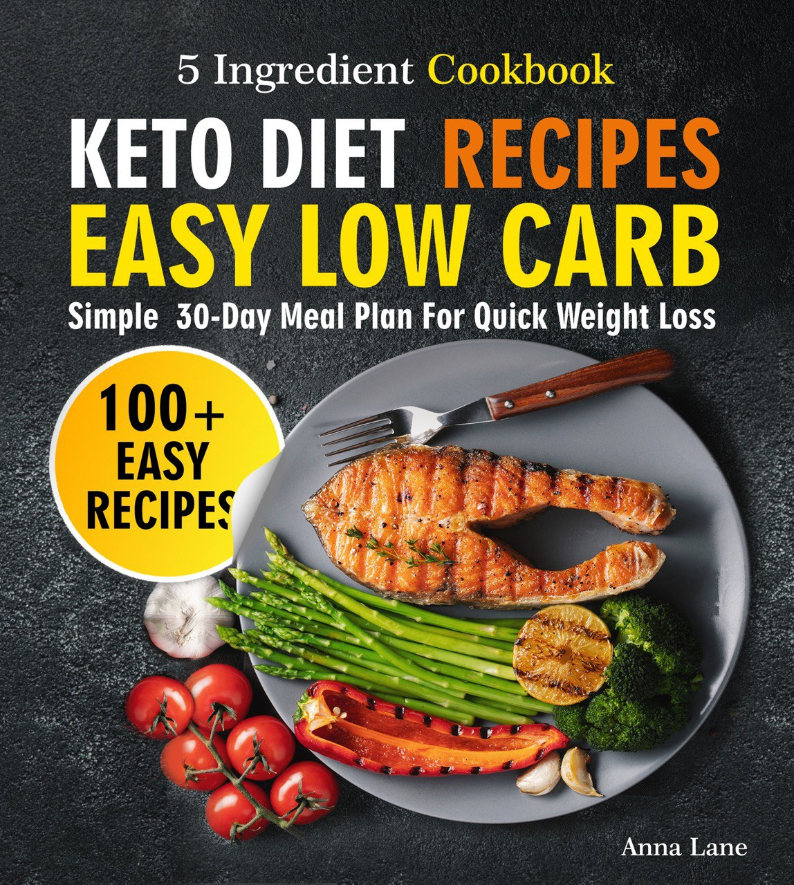 Keto Diet Recipes. Easy, Low Carb, 5-Ingredient Cookbook ...